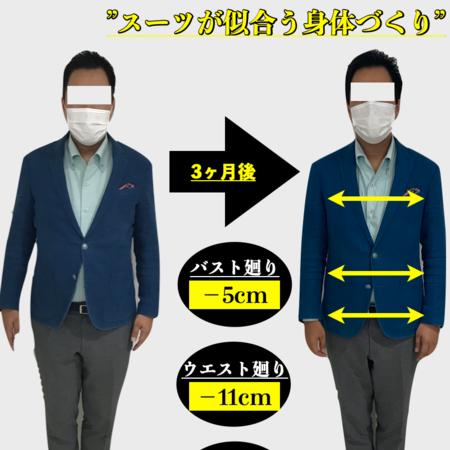 <スーツが似合う身体づくり>